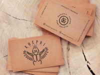 Khepri Granola Mahogany Business Cards