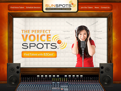 Sunspots banner region