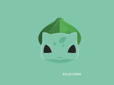 Bulbasaur MNML pokemon illustration starter pack poster vector minimal