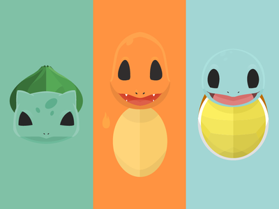Most Difficult choice of childhood starters pokemon illustration vector flat minimal