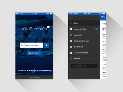 Mobile Search Job mobile ui ux job search flat android