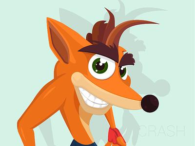 Crash Bandicoot illustration flat minimal crash crash bandicoot bandicoot psone ps playstation video game