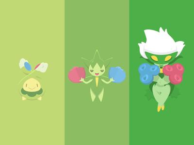 Roserade evolution pokemon vector illustration evolution poster flower green