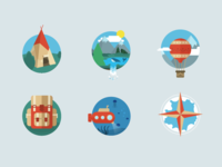 Icons Travelling Game