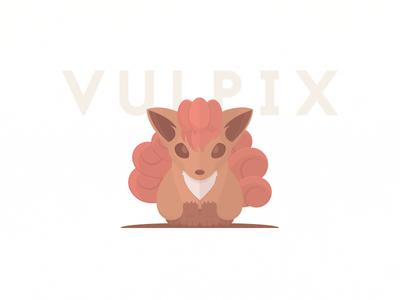 Pokeminimal #037 Vulpix video game poke pokemon vulpix fire minimal flat poster