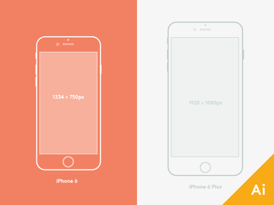 iPhone 6 and 6 Plus Mockup  phone mobile mockup illustrator freebie 6plus iphone6 iphone