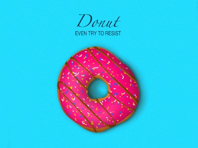 Donut - Procreate donut doodle illustration dribble