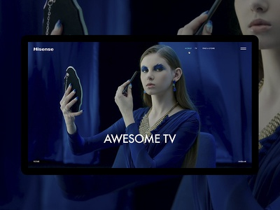 Hisense electronics main interface design brand tv m2h hisense