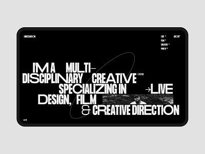 MIKECARSON® WEBSITE ux logo homepage typography design ui concept web art minimalistic