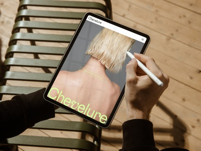 Chevelure® branding logo design ui photography web concept art minimalistic