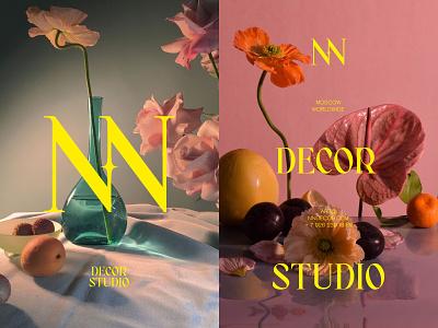 NN DECOR branding logo design photography art minimalistic