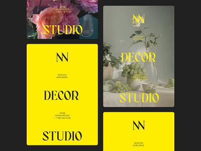 NN DECOR branding logo design web photography art minimalistic