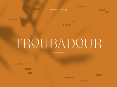 Troubadour branding logo art minimalistic