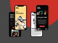 Ninetales App Website Design — Mobile