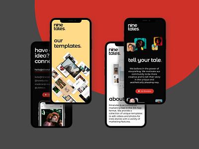 Ninetales App Website Design — Mobile ux homepage typography design ui photography concept web art minimalistic