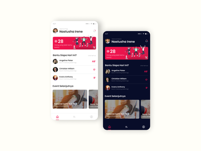 Blood Donation Exploration charity mobile app design ui ux dark theme exploration medical health donor donation blood