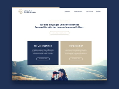 Clever Personal Homepage simple clean business page small website landingapage digital webdesign homepage