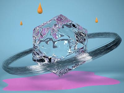 Water Perturbation cgart conceptart digital water creative render motiondesign c4d 3dsmax cgi motion 3d