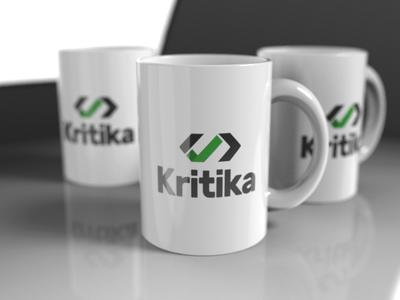 Logo code programing mug render logo packshot 3d