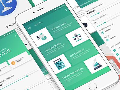 Interest Rate Comparison App banking app app design