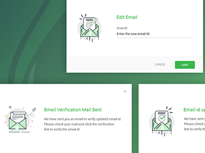 Email Verifictaion email design illustration icons popups