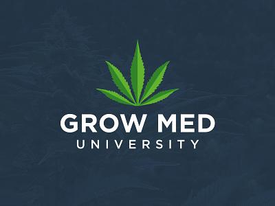 Grow Med University logo logotype medical marijuana weed universiry