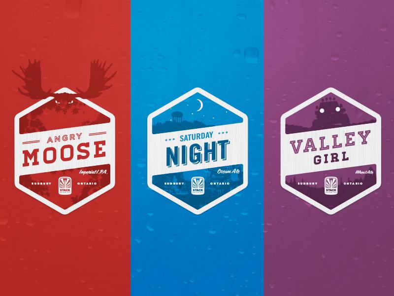 Stack Brewery Labels beer labels sudbury ontario craft