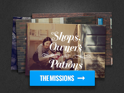 The Missions WIP wip missions photo stack typography