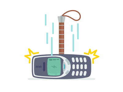 The Hammer of Thor lightning avengers 3310 nokia illustration vector icon outline 2d hammer thor