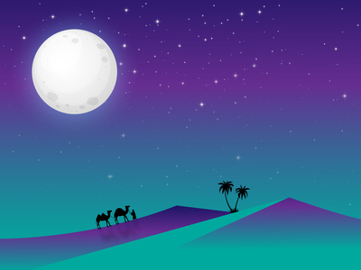 Desert Night illustration