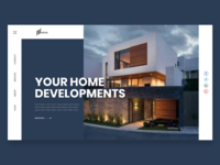 Home Developer Webpage UI Design