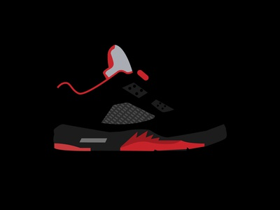negative space sneaker study