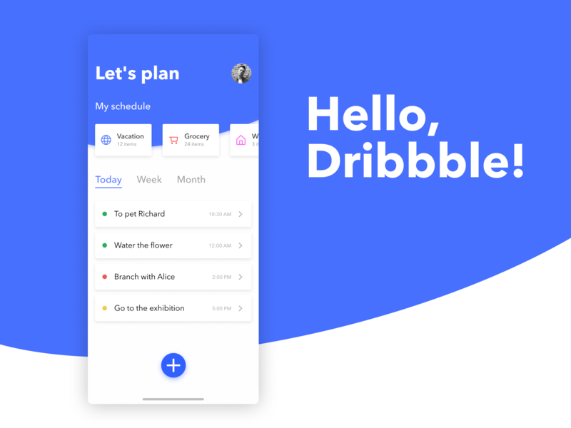 Weekly UI #1 — ToDo List ui hello dribbble first post firstshot dailyui042 dailyui app task list tasks to-do list to-do ios iphone x todo list todo app todo todolist