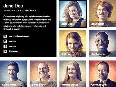 Adobe Muse Free Download Team Page adobe muse muse widget free muse template