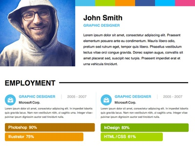Adobe Muse Personal Resume Template By MusefreeCom  Dribbble