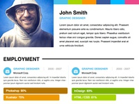 Adobe Muse Personal Resume Template