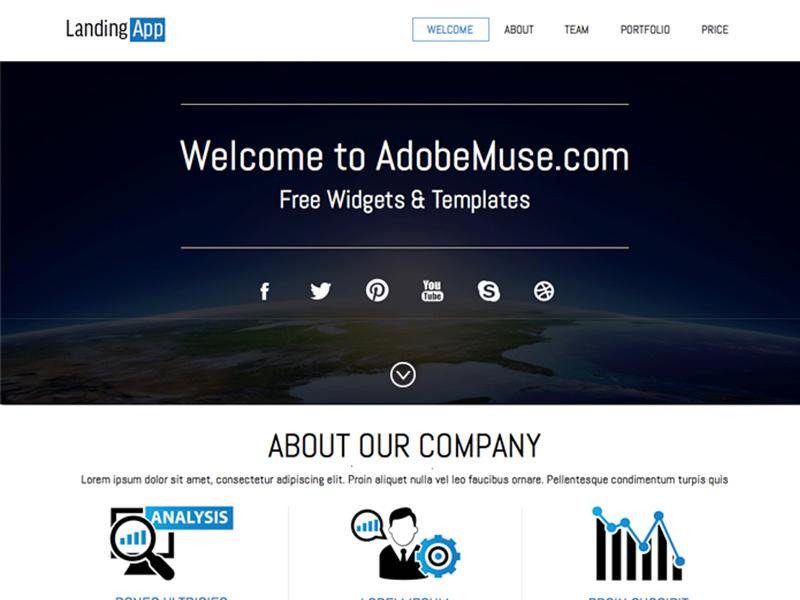 Free Download Adobe Muse Landing Theme adobe muse landing free muse template adobe muse theme