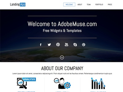 Free Muse Template designs, themes, templates and downloadable