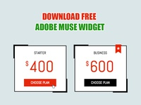 Adobe Muse Pricing Table