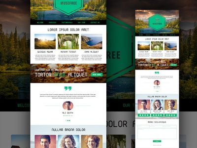 Adobe Muse Landing Page by MuseFree.com - Dribbble