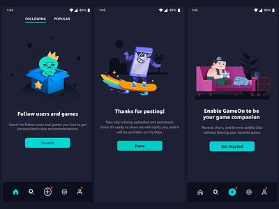 GameOn App/ Website Illustrations vector animation ui game design photoshop illustration character art visual design