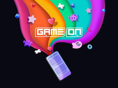 GameOn Welcome Screen Illustration branding vector ui game design photoshop illustration character art visual design