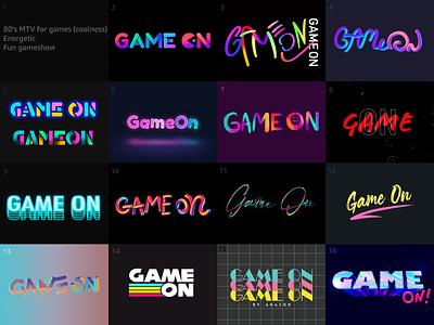 GameOn Logo Concepts Round 2 typography app art illustration visual design design logo ui vector branding