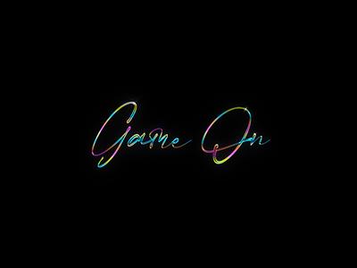 GameOn Logo Expoloration visual design vector ui photoshop app typography logo branding art illustration