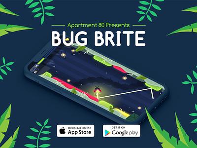 Bug Brite Feature Image app typography branding vector logo design visual design photoshop illustration art
