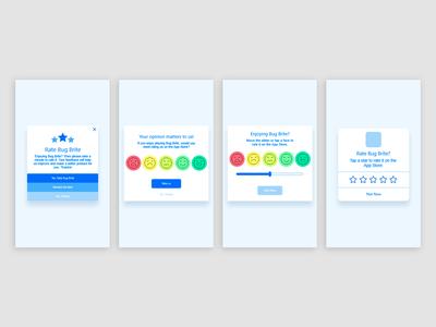 Rate Screen Wireframes visual design ux ui interaction design wireframes
