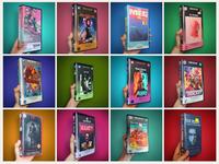 Modern films on VHS typography branding logo design illustration visual design art
