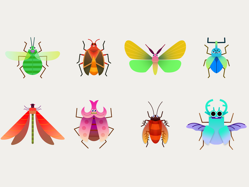 Bug Brite Unlockable Skins. design animation ui game photoshop illustration character art visual design