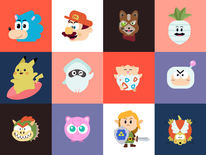Video Game Character Illustration vector icon ux ui design game illustration character visual design art