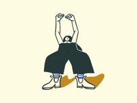 Linen pants pose 3